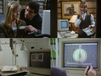 Een Commodore Amiga 3000 computer, 1084 monitor en een 1351 muis in de TV-serie Lovejoy.
