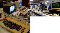 A Commodore C64 and Commodore CBM/PET in the TV program Mediazine.