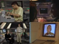 Commodore C64 and a Amiga keyboard in the comedy: Red Dwarf (S01E05)