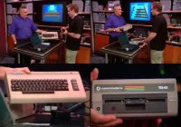A Commodore C64 computer and a 1541 disk drive in the TV-show TechTV.