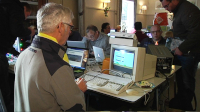 A Commodore VC20 computer, 1701 monitor, C2N and a Drean datassette in the TV program U Vandaag.